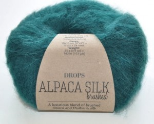 DROPS  Alpaca Silk - 11 forest green